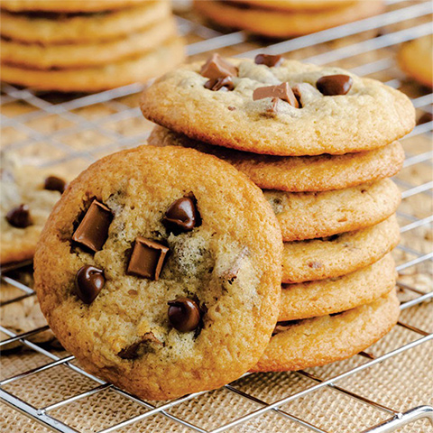 Chewy chocolate chip cookies with Karo